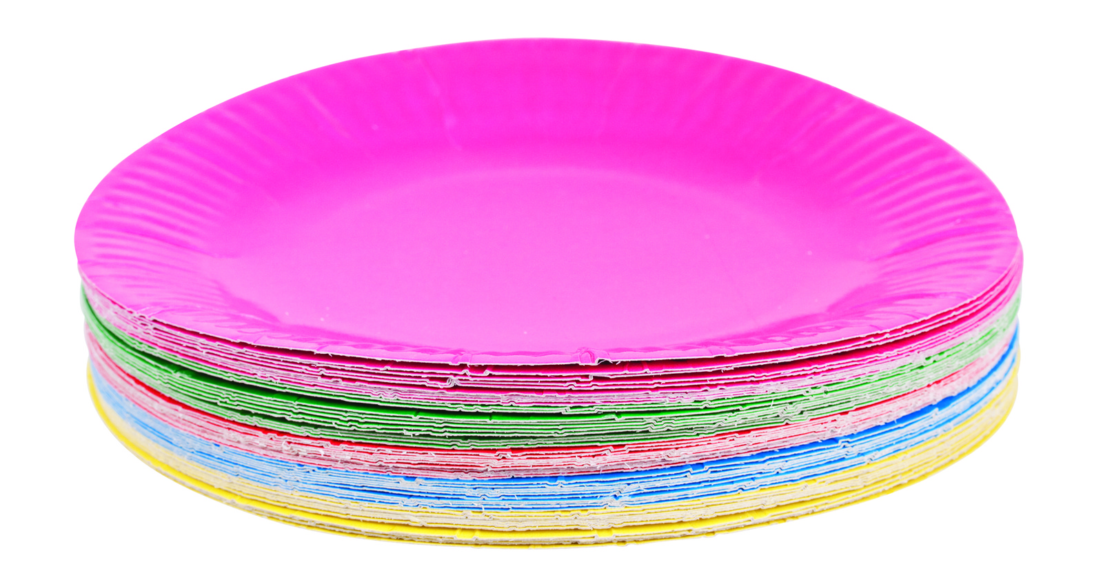 Coloured Craft Paper Paper Plates Coloured