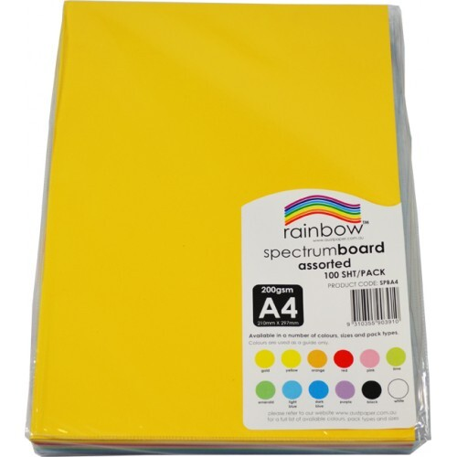 Coloured Card 10 Assorted Colours 200gsm Card