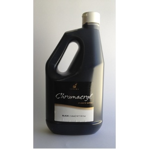 Chromacryl Acrylic Paint 2L Black