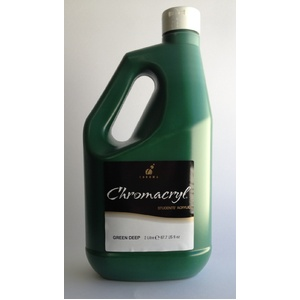 Chromacryl Acrylic Paint 2L Deep Green