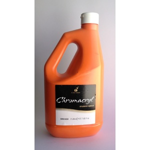 Chromacryl Acrylic Paint 2L Orange