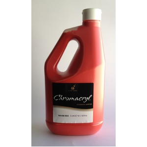 Chromacryl Acrylic Paint 2L Warm Red