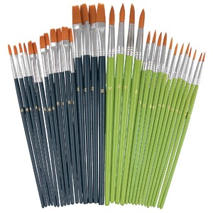 Economy Taklon Brush Set