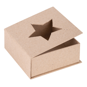 Papier Mache Cut Out Star Box