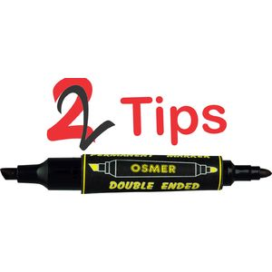 Osmer Double Ended Permanent Marker  Box of 12