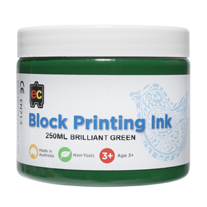 Block Printing Ink Green