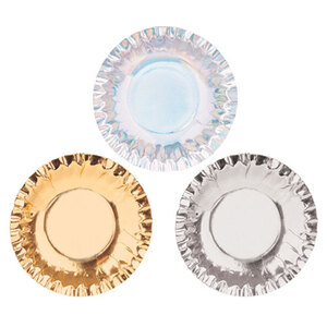 Small Paper Plates Metallic  - 95mm