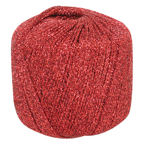Metallic Yarn Red