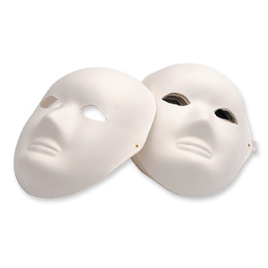 EC Papier Mache' Full Face Masks - 6's