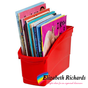 Elizabeth Richards Plastic Book Tub Red