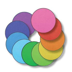 Elizabeth Richards Rainbow Carpet Discs