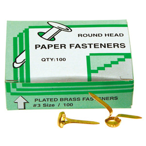Paper Fasteners (Split Pins) Box 100